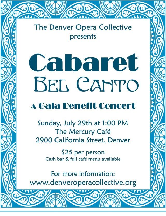 Bel Canto cabaret flier