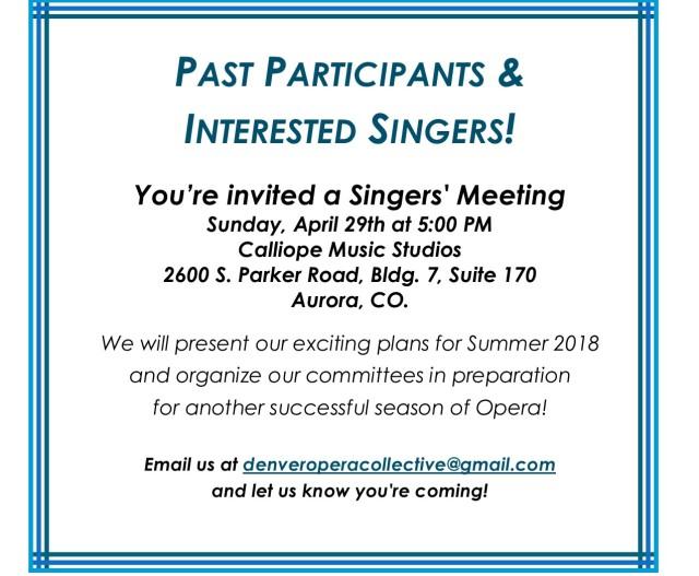 Singers meeting insert